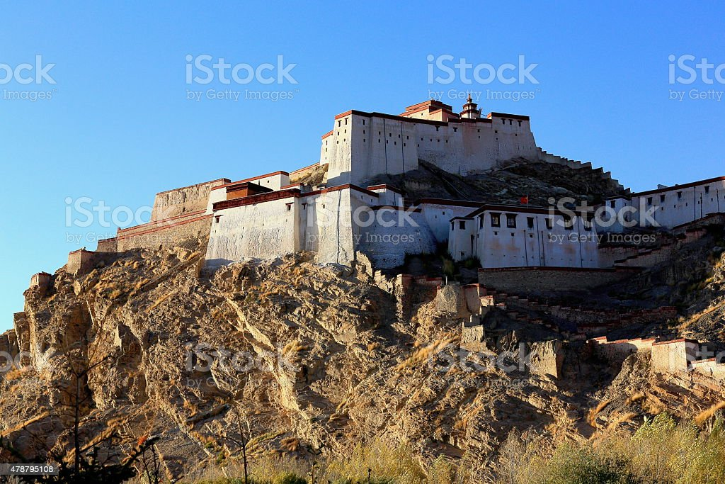 Dzong or fort. Gyantse-Tibet. 1588 stock photo