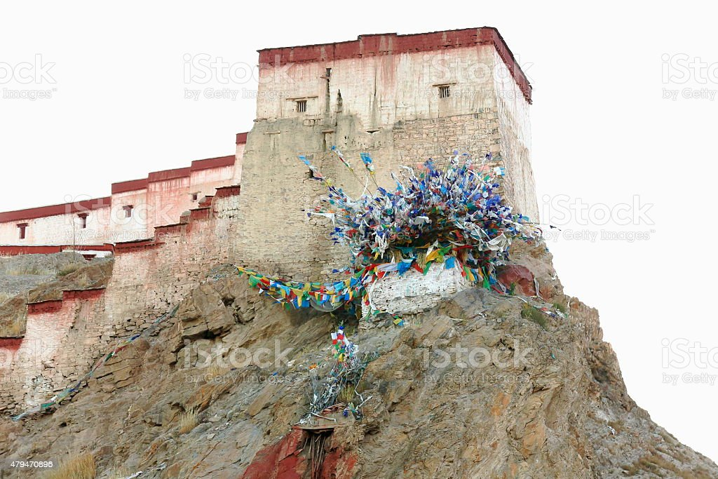 Dzong-fort of Gyantse-Tibet. 1599 stock photo