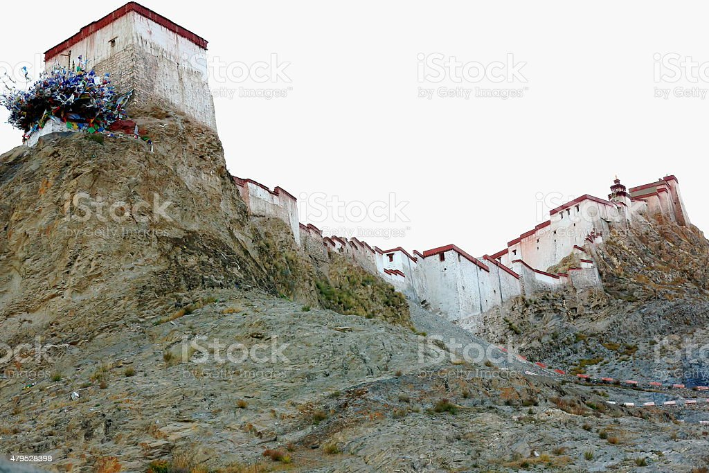 Dzong-fortress of Gyantse-Tibet. 1601 stock photo