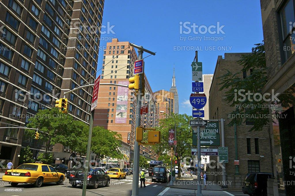 'E.34th St Cityscape, Empire State Building,  Manhattan, New York' stock photo
