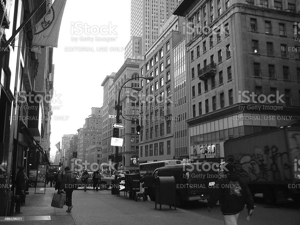 E36th street 5th Ave NYC stock photo