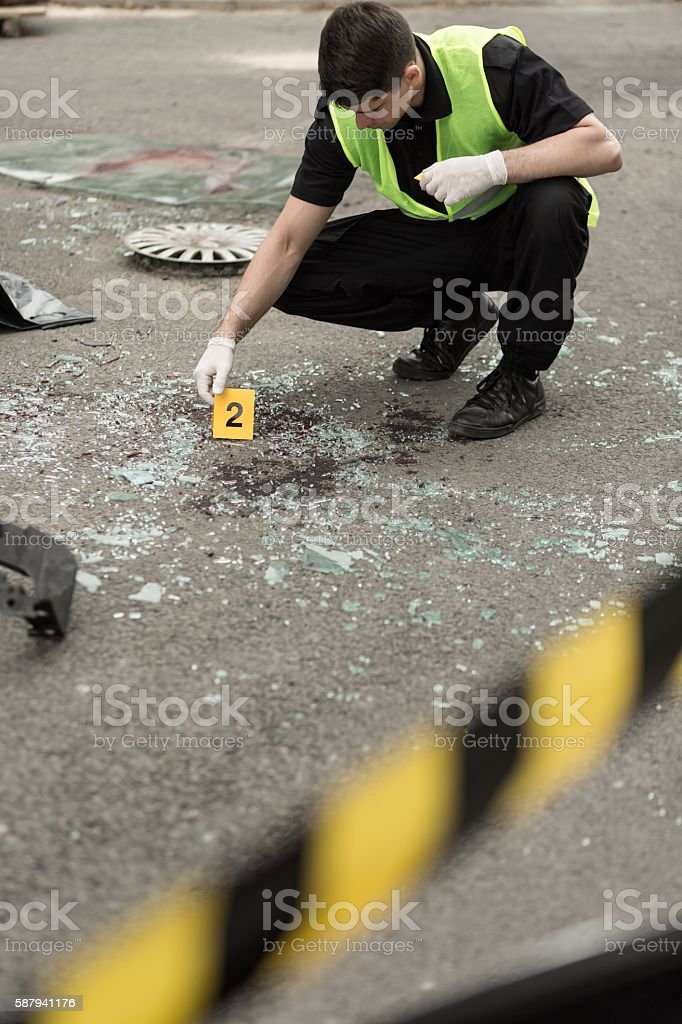 Each evidence is very important stock photo