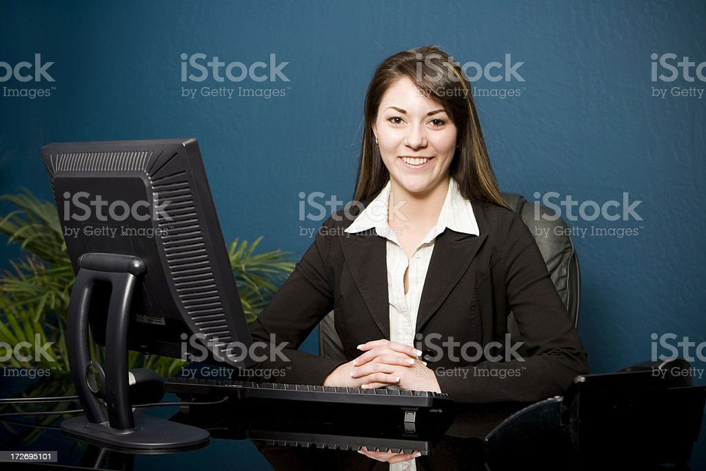Eager Business Woman royalty-free stock photo