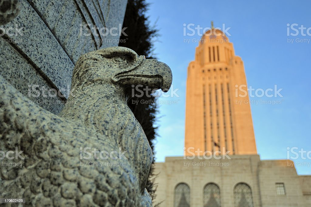 Eagle and State Capitol stock photo