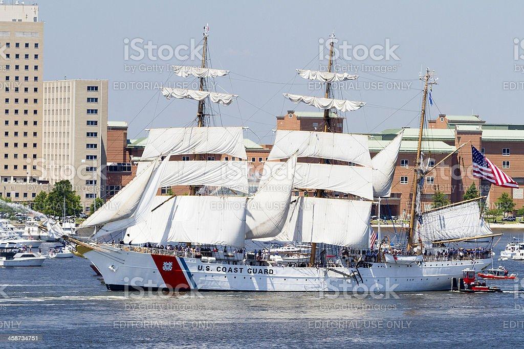 USCGC Eagle Arrives stock photo
