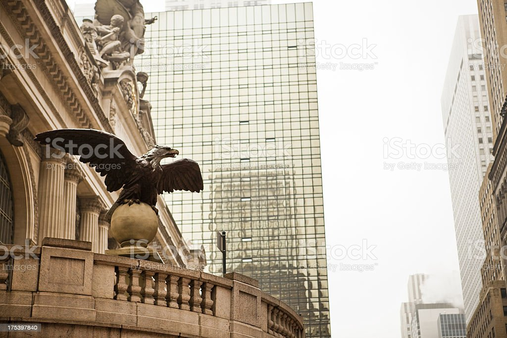 Eagle at Grand Central Terminal stock photo