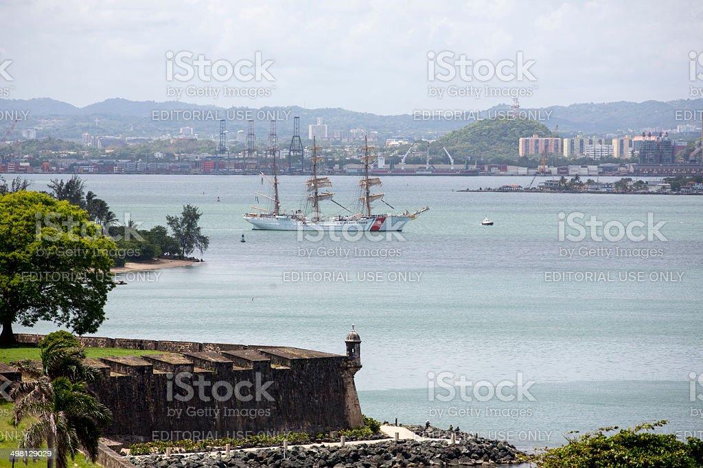 USCGC Eagle at Sail stock photo
