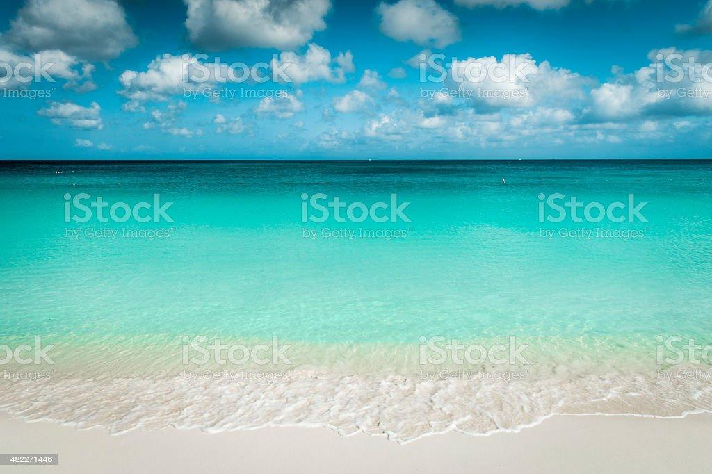 Eagle Beach on Aruba Island stock photo