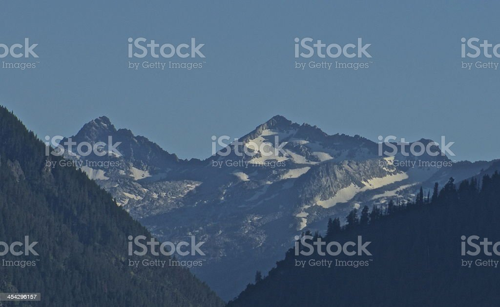 Eagle Cap Wilderness Blue Ice stock photo