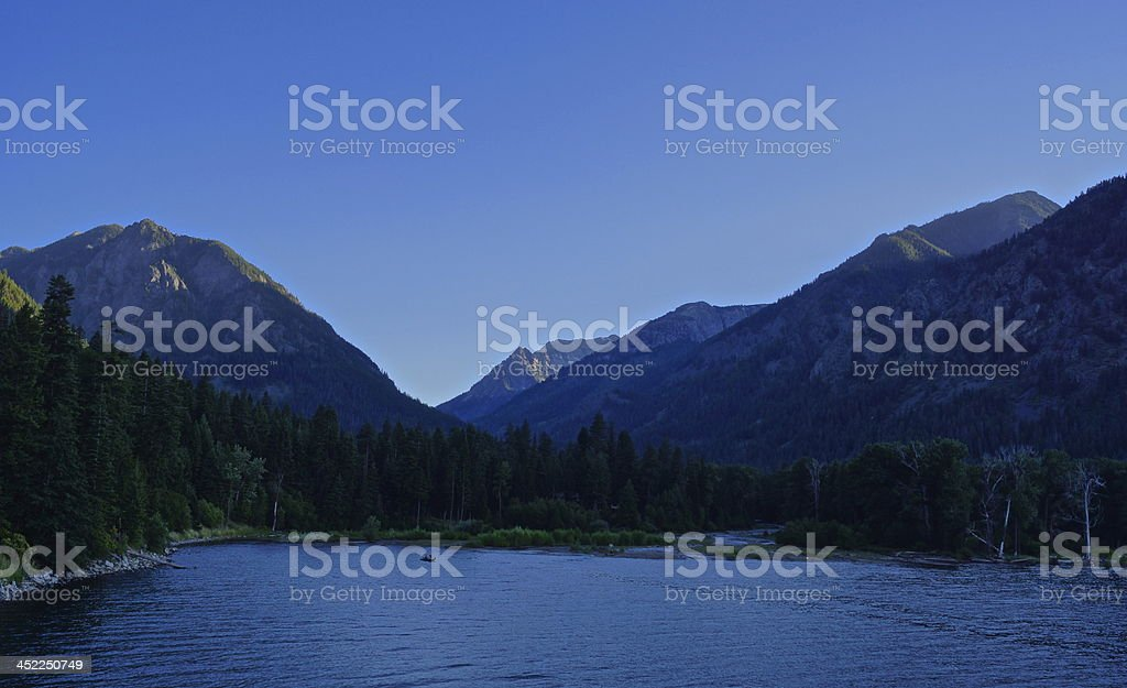 Eagle Cap Wilderness Sunset stock photo