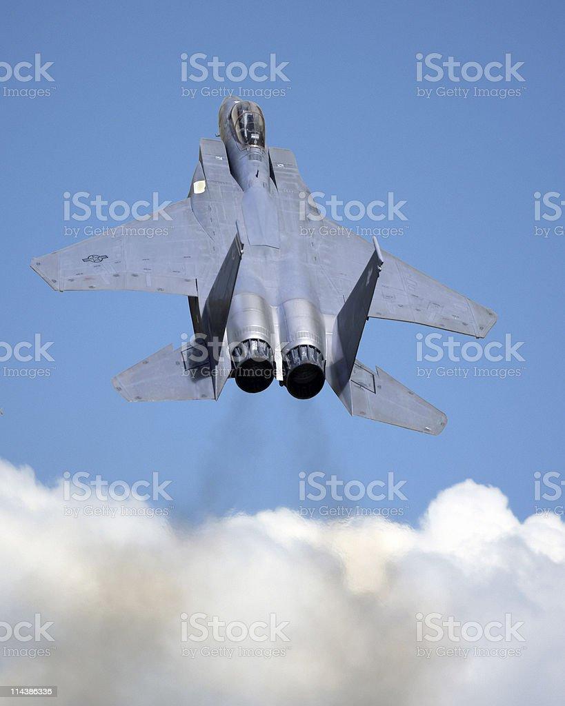 F-15 Eagle Climbing Above Cloud (Model) stock photo