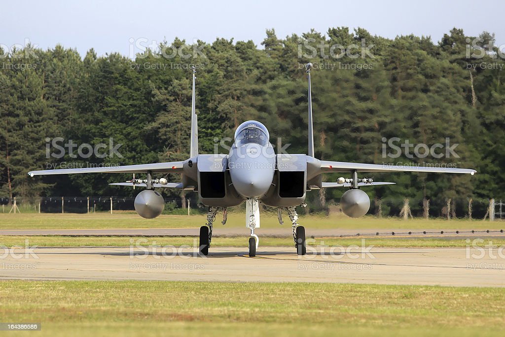F-15C Eagle Combat Aircraft royalty-free stock photo