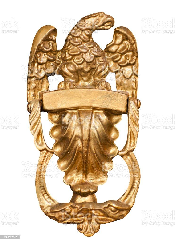 Eagle door knocker stock photo