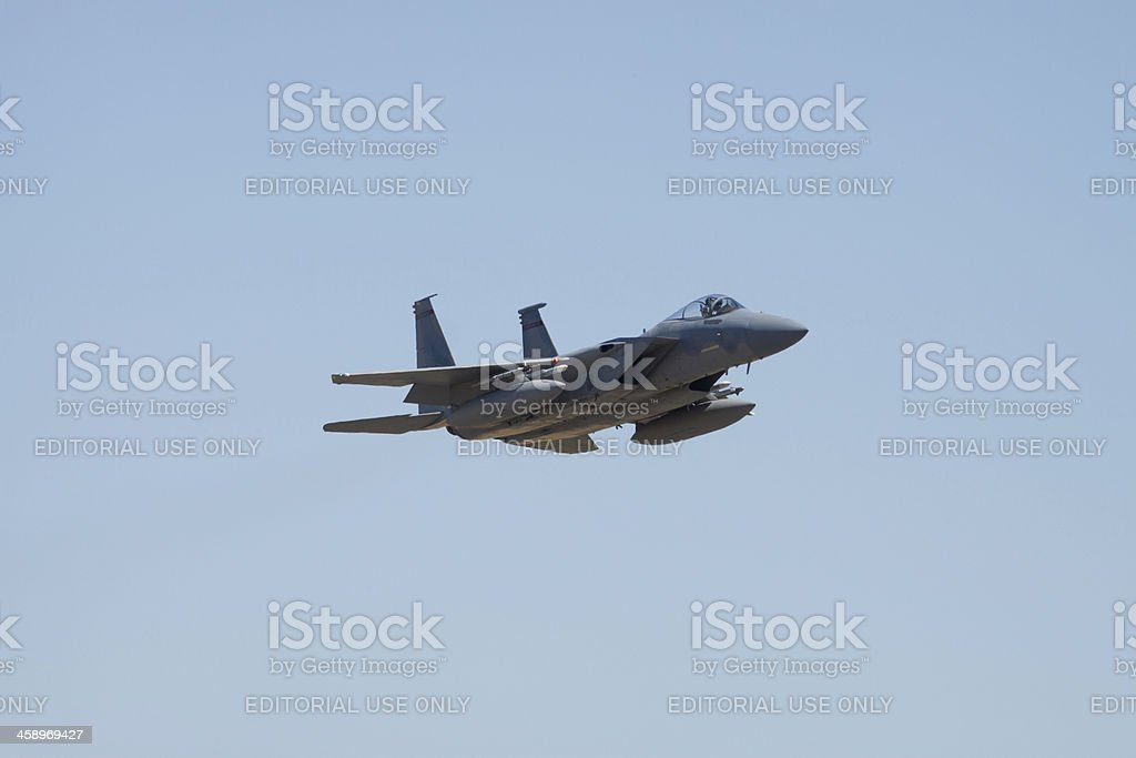 F-15 Eagle Fly By royalty-free stock photo