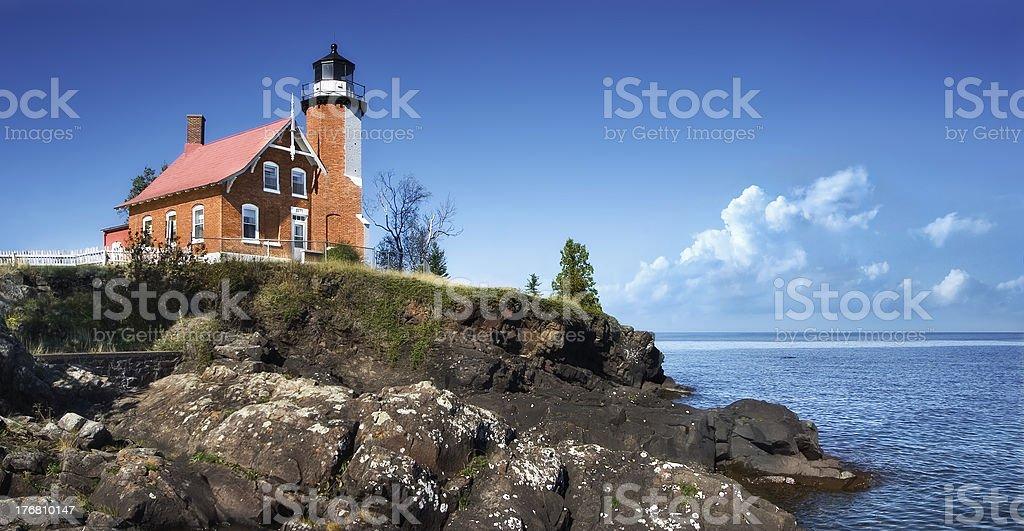 Eagle Harbor Lighthouse stock photo