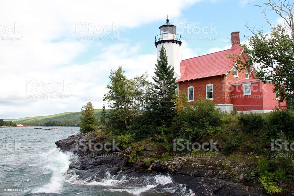 Eagle Harbor Lighthouse stock photo