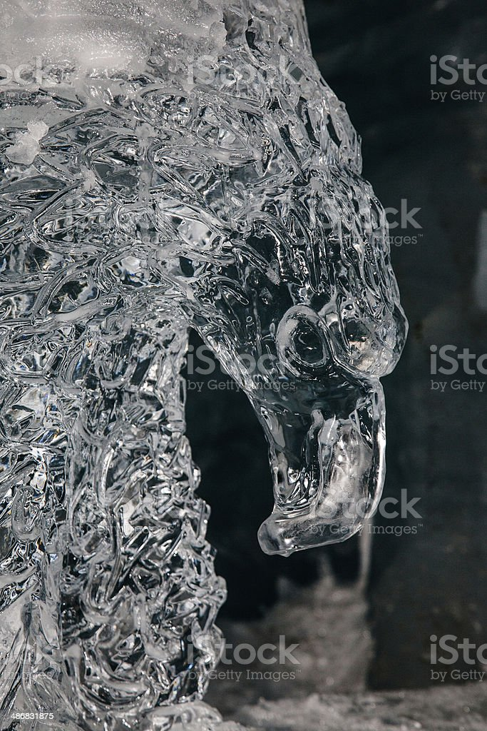 Eagle Ice Sculpture stock photo