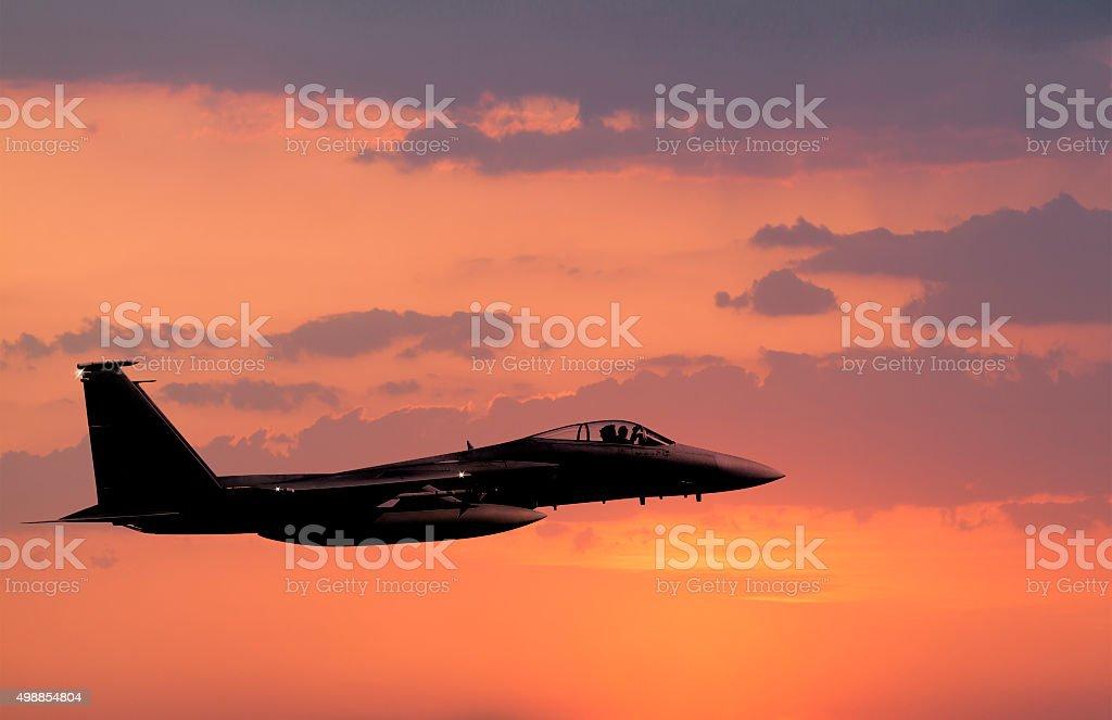 F-15 Eagle in flight stock photo