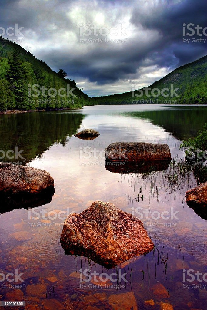 Eagle Lake, Acadia National Park royalty-free stock photo