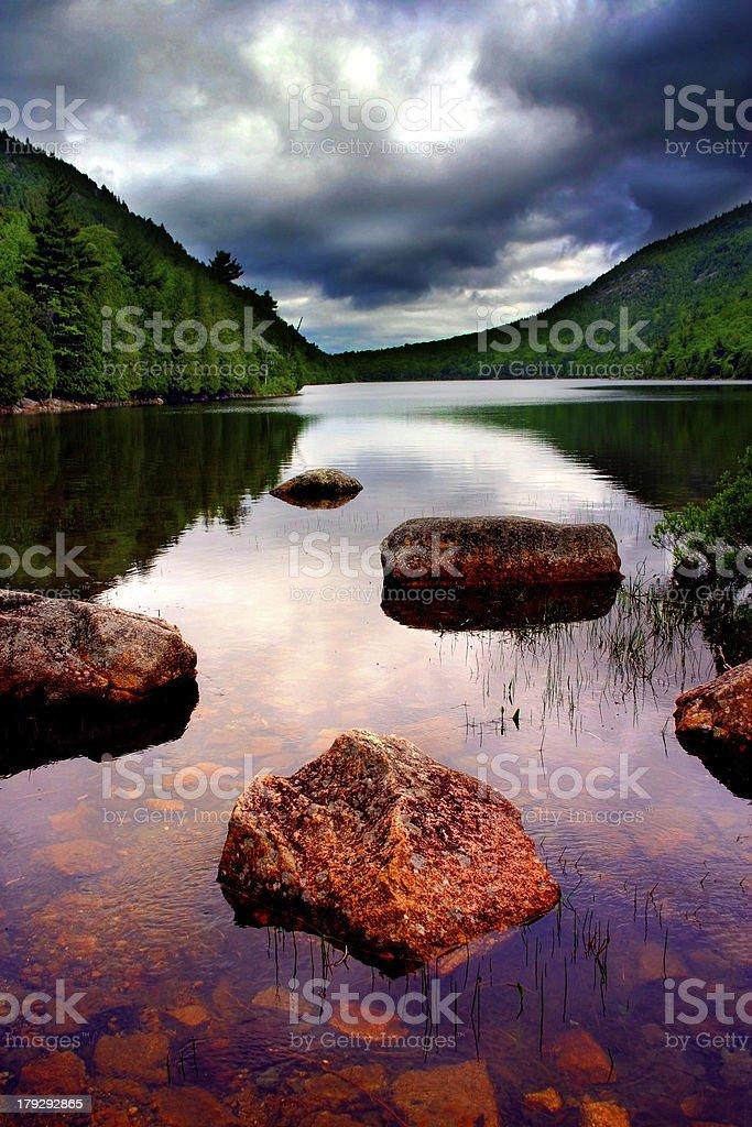 Eagle Lake, Acadia National Park stock photo