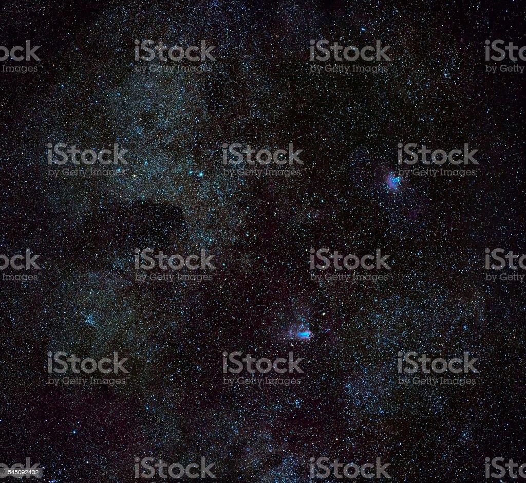 Eagle & Omega Nebulae stock photo