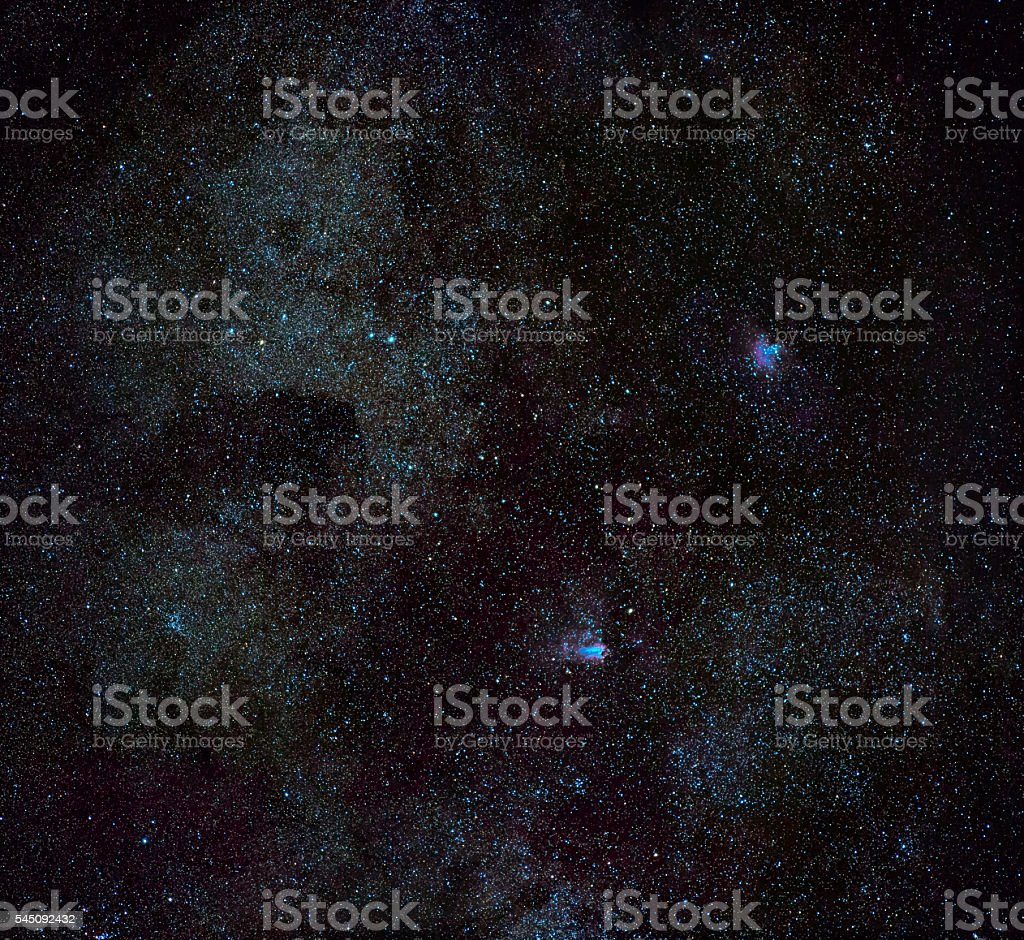 Eagle & Omega Nebulae stock photo