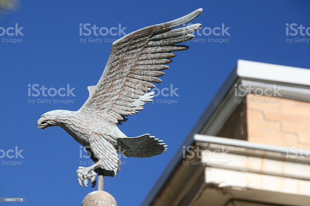 Eagle on Pole 2 stock photo