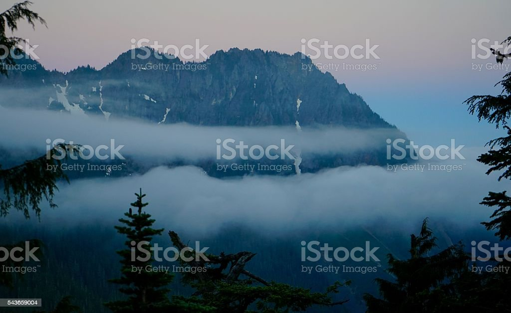 Eagle Peak Dawn stock photo