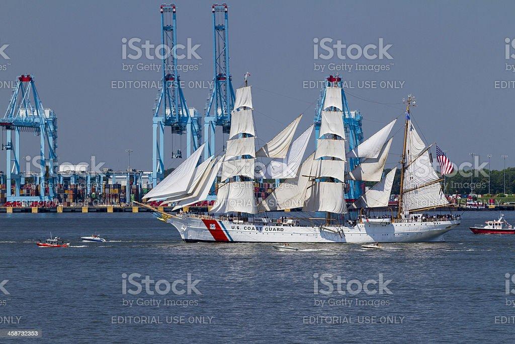 USCGC Eagle stock photo