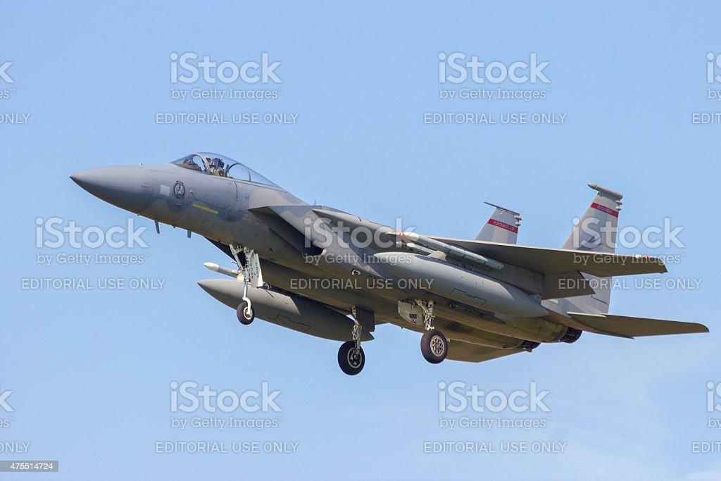 USAF F-15 Eagle stock photo