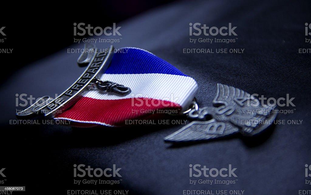 Eagle Scout Award stock photo