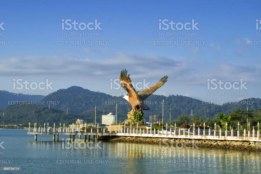 Eagle sculpture, the symbol of Langkawi island, Malaysia stock photo