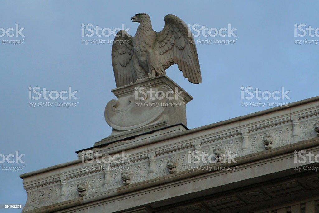 Eagle staute stock photo