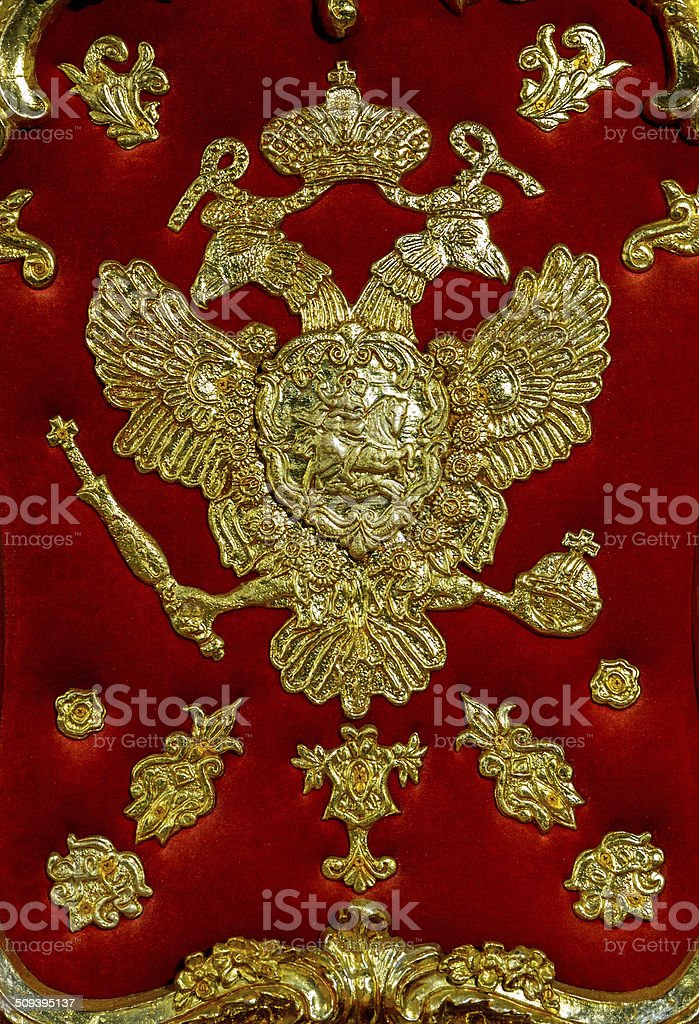 eagle with scepter and orb stock photo
