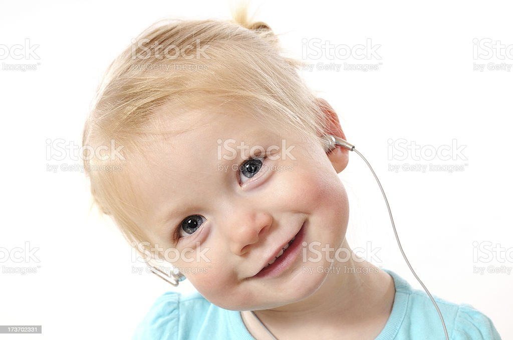 Ear Buds Baby royalty-free stock photo