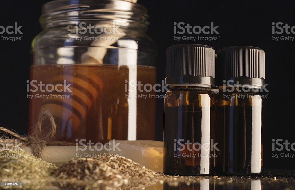 ear candle ingredients royalty-free stock photo