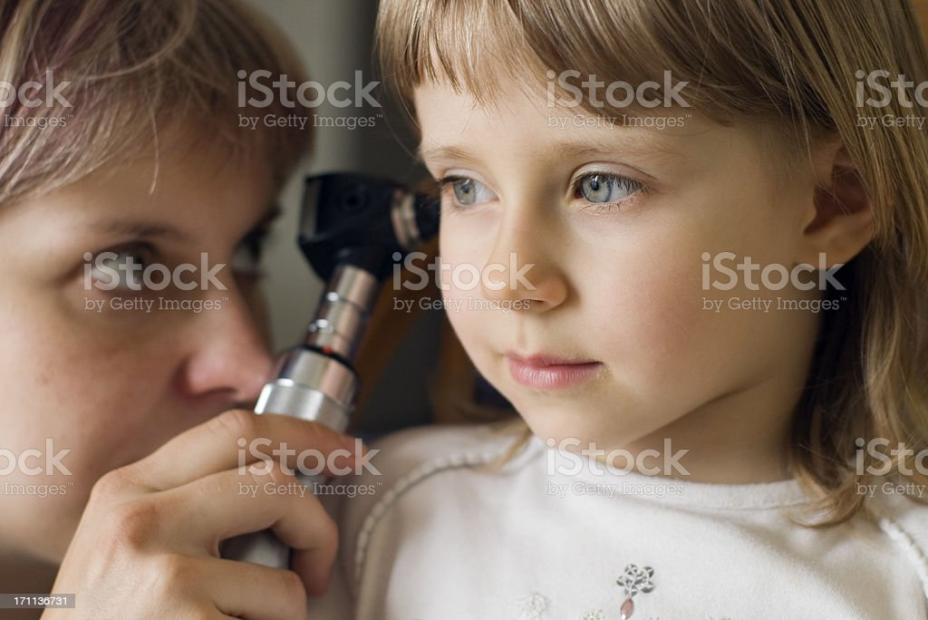 Ear Exam stock photo