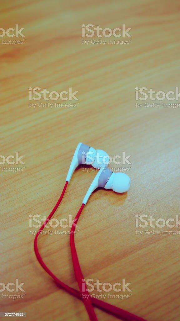 Ear Headphone stock photo