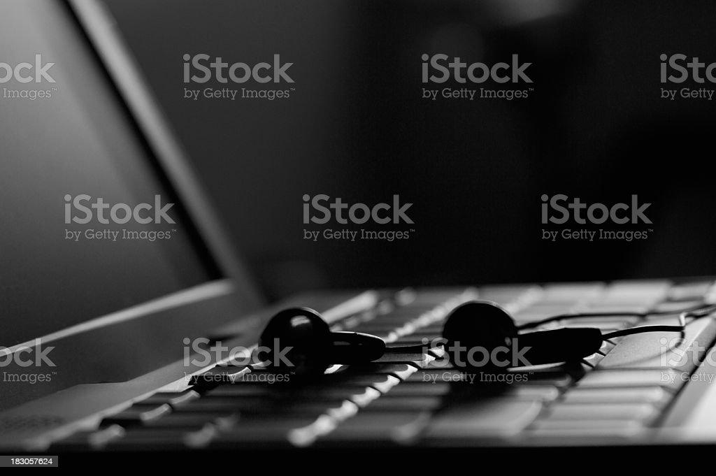Ear Headphones Computer royalty-free stock photo