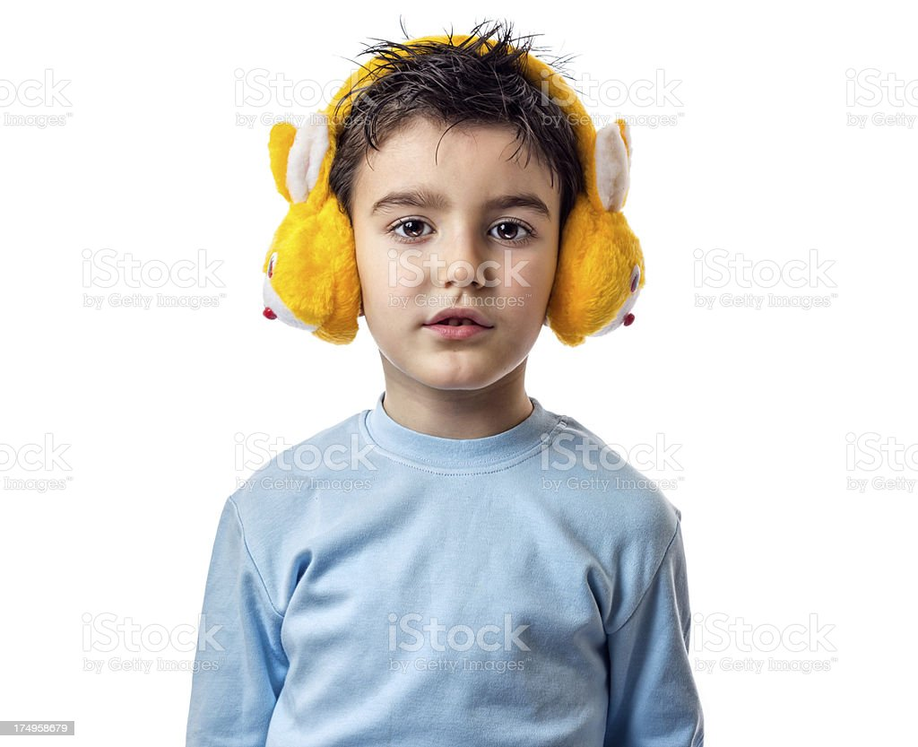 Ear muff for the winter royalty-free stock photo