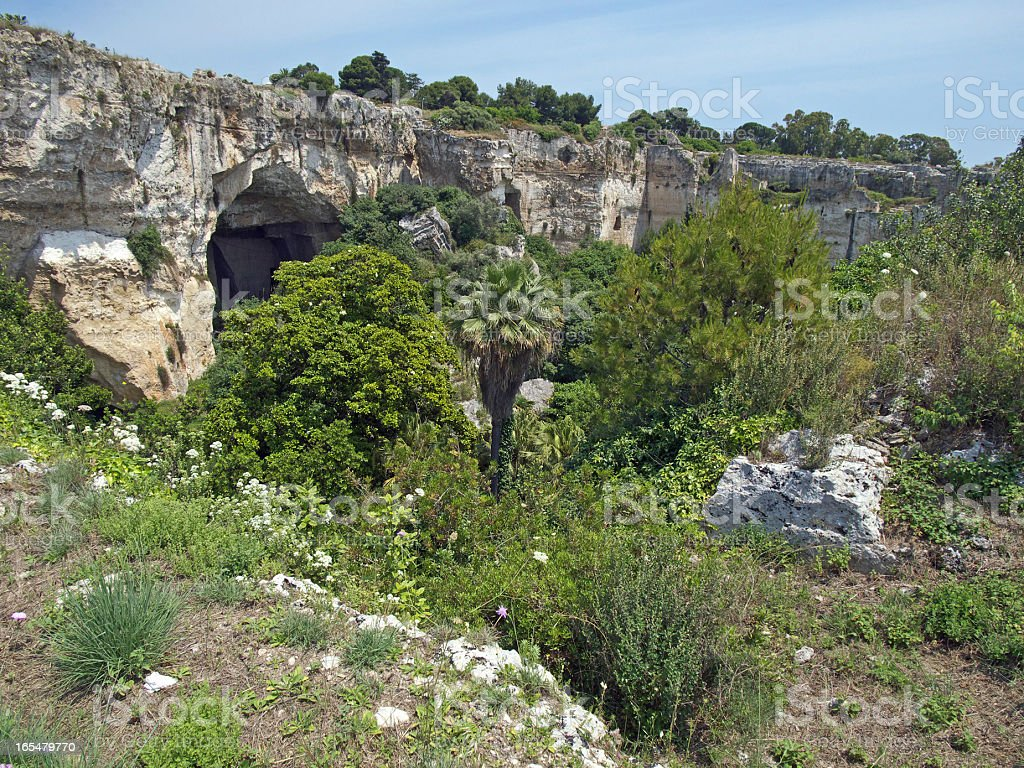 Ear of Dionysus Area, Syracuse stock photo