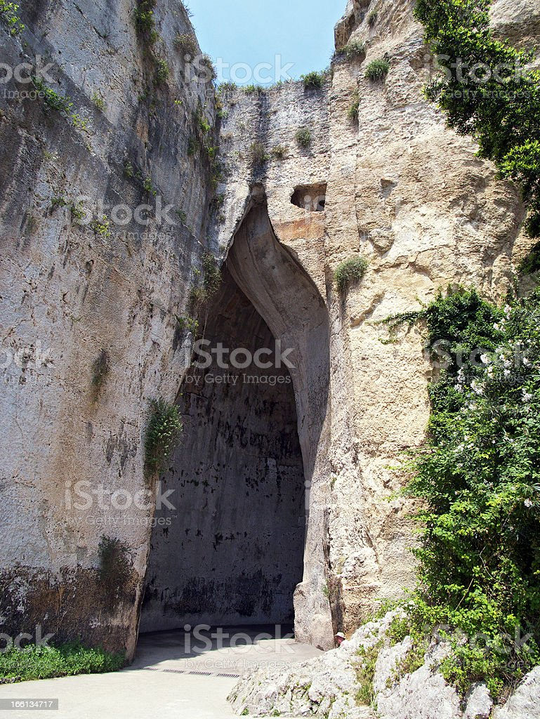 Ear of Dionysus, Syracuse stock photo