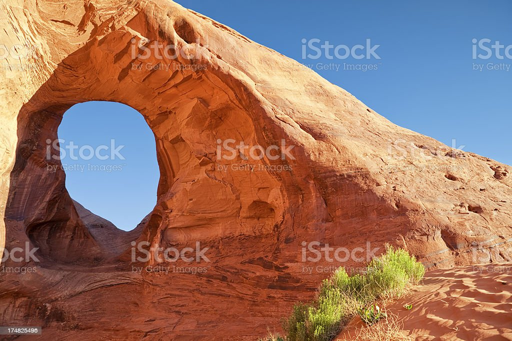 Ear of the Wind - Monument Valley stock photo