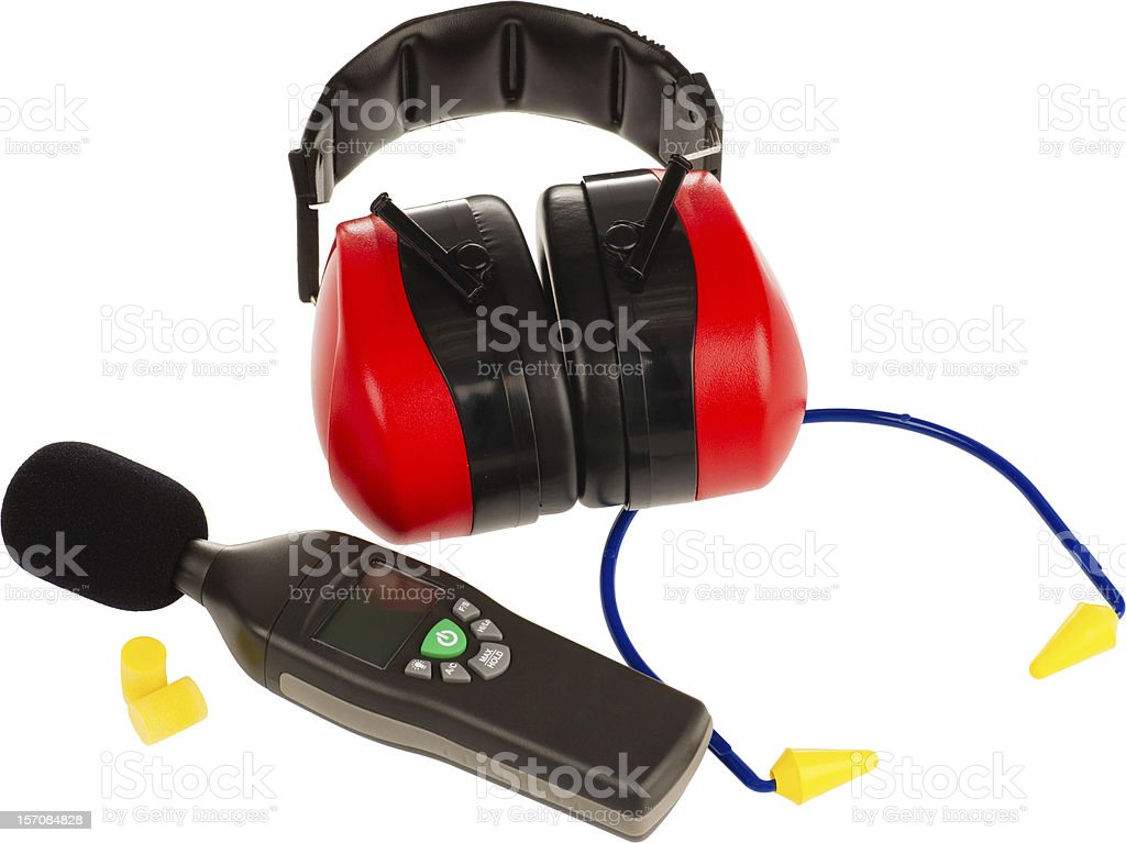 ear protection gear stock photo