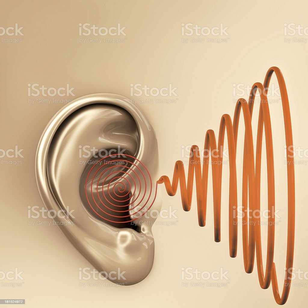 Ear sound - 3d rendered illustration royalty-free stock photo
