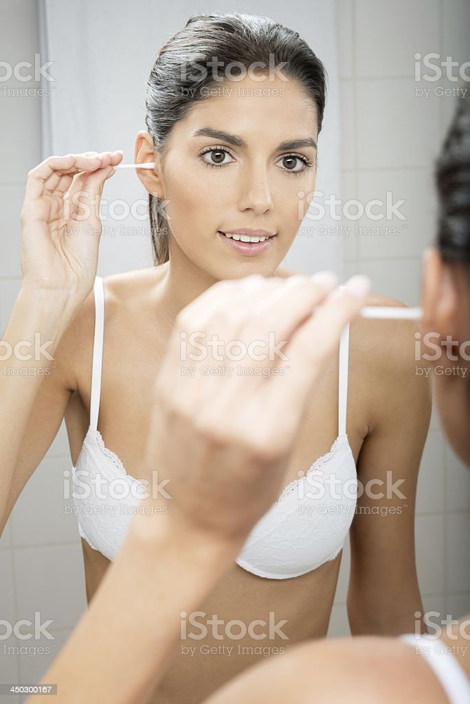 Ear Swab stock photo