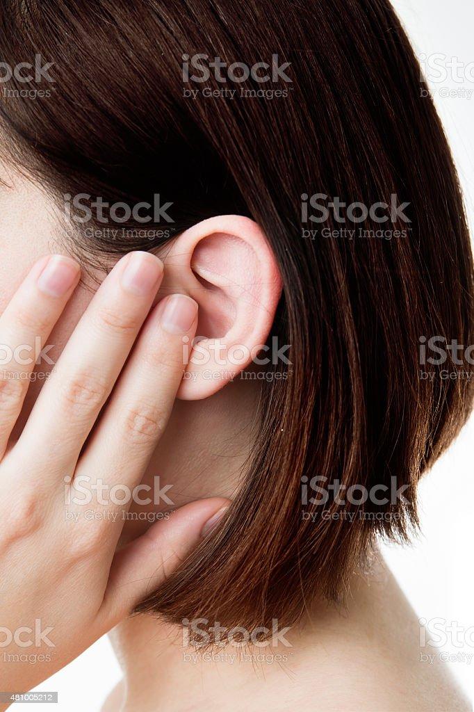 Earache stock photo