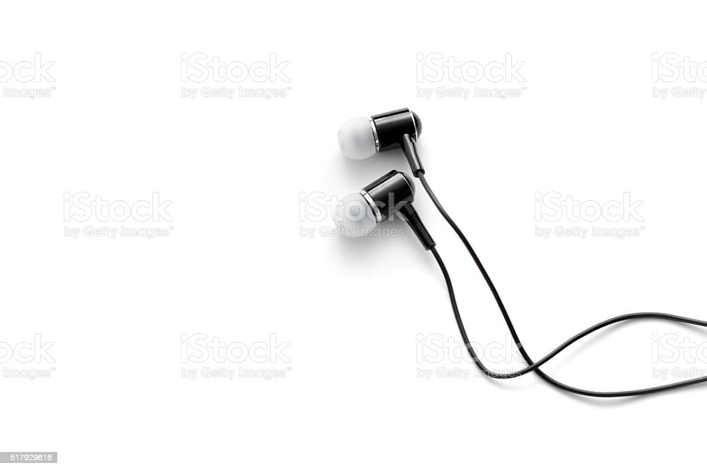 Earbuds stock photo