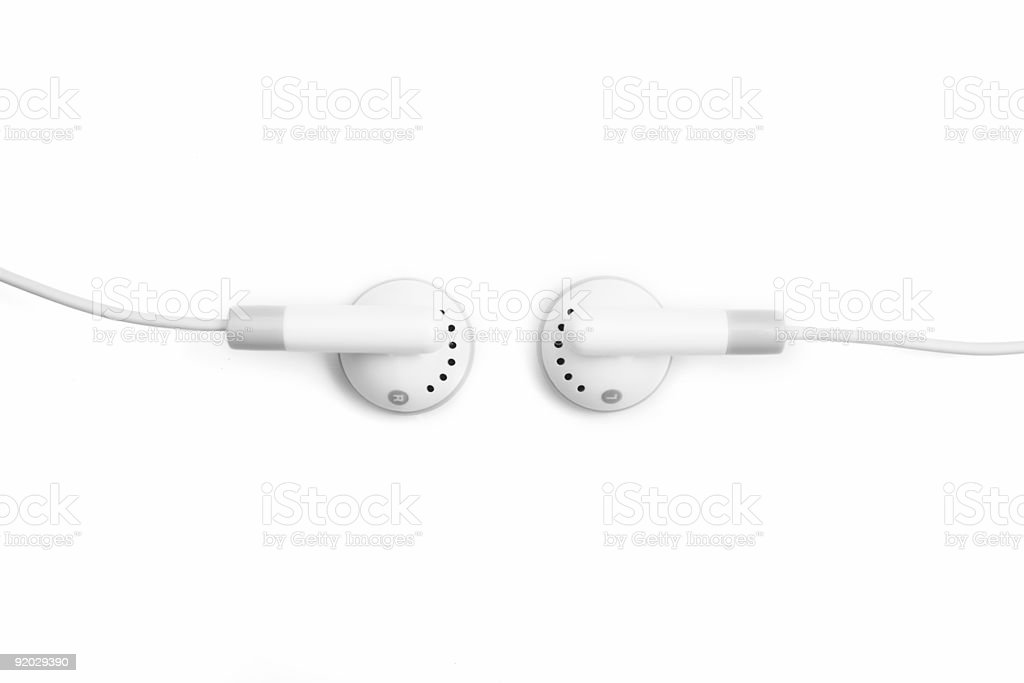 Earbuds royalty-free stock photo
