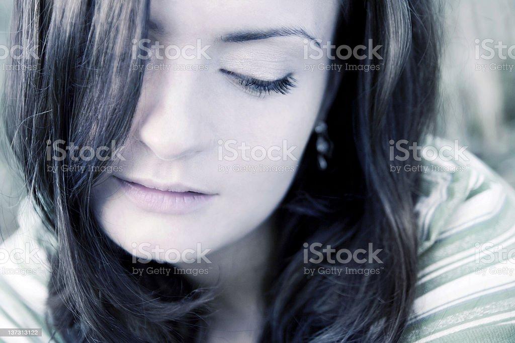 Ear-drop tears royalty-free stock photo